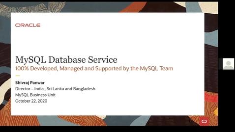 Thumbnail for entry MySQL On-demand Session | MySQL Database Service Launch - Mumbai