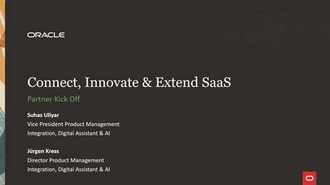 Thumbnail for entry Connect, Innovate & Extend SaaS Partner FY22 Launch Webcast
