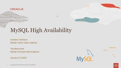 Thumbnail for entry MySQL High Availability Topologies