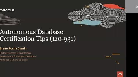 Thumbnail for entry Dicas de Certificación Autonomous Database (1Z0-931)