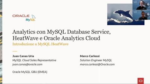 Thumbnail for entry Analytics con MySQL Database Service, HeatWave e Oracle Analytics Cloud