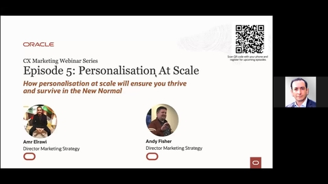 Thumbnail for entry Oracle CX Webinar: How Customer Experience Personalization at scale will ensure you thrive and survive in the New Normal