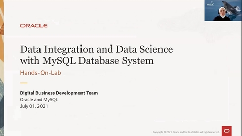 Thumbnail for entry Integrate MySQL Database Service with any External Data Source with Oracle Data Integrator Cloud