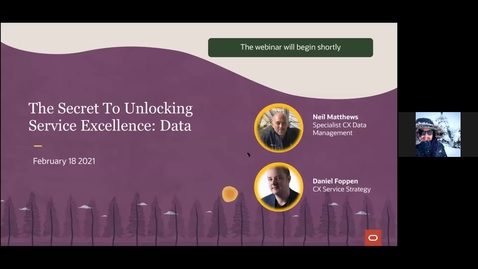 Thumbnail for entry CX Service Webinar: The Secret to Unlocking Service Excellence: Data
