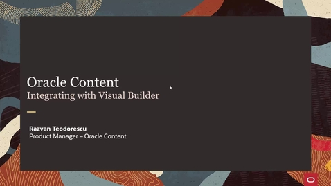 Thumbnail for entry Oracle Content - Integrating with Visual Builder (Part 1)