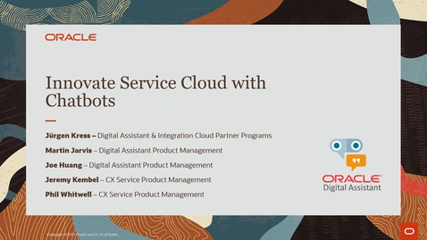 Thumbnail for entry Innovate Service Cloud with Chatbots PaaS Partner Community Webcast