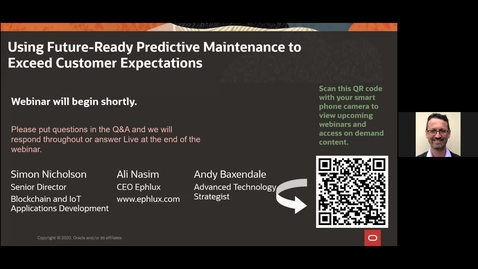 Thumbnail for entry CX Service Webinar: Using Future-Ready Predictive Maintenance to Exceed Customer Expectations