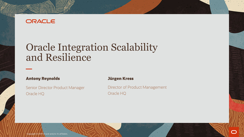 Thumbnail for entry Extreme Scalability and Enhanced Resilience for Oracle Integration PaaS Partner Community Webcast
