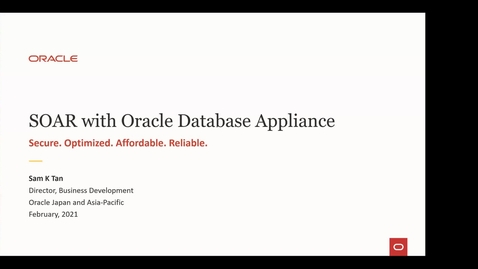 Thumbnail for entry Oracle Database Appliance (ODA) Updates And Use Cases (APAC, Feb 9, 2021)