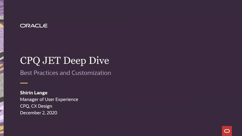 Thumbnail for entry CPQ Deep Dives: JET Best Practices