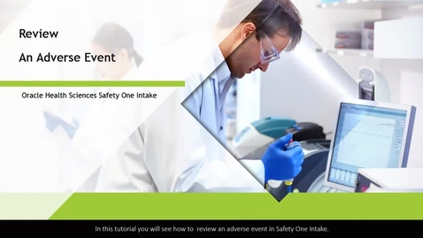 Thumbnail for entry Review Your Adverse Events