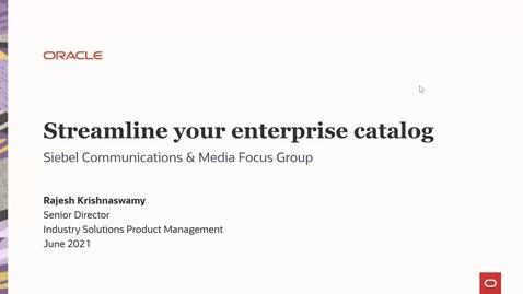 Thumbnail for entry Streamline Your Enterprise Catalog
