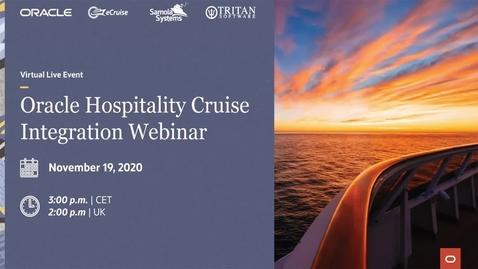 Thumbnail for entry Oracle Hospitality Cruise Integration Webinar