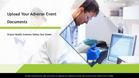 Thumbnail for entry Upload Your Adverse Event Documents