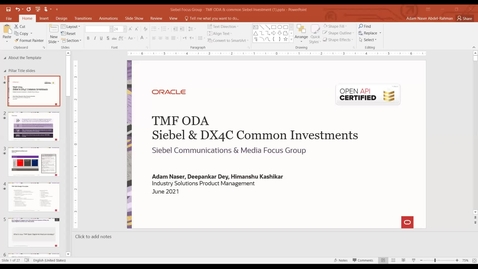 Thumbnail for entry TMF Open Digital Architecture & Siebel and Buying Shared Investment