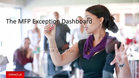 Thumbnail for entry The MFP Exception Dashboard