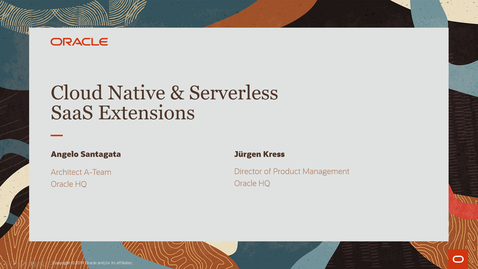 Thumbnail for entry Cloud Native and Serverless SaaS Extensions - PaaS Partner Community Webcast