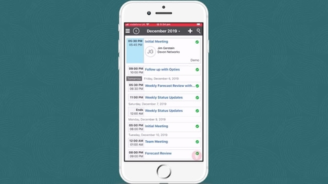 Thumbnail for entry Get Started   Get Started with Oracle Sales Cloud CX Cloud Mobile