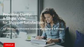 Thumbnail for entry Oracle Retail 2018 Roadmap - A Single View for Shopper Satisfaction