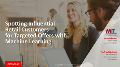 MIT Sloan: Spotting Influential Retail Customers For