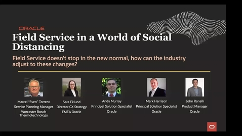 "Thumbnail for entry CX Service Webinar: Field Service in a World of Social Distance with guest speaker Marcel ""Sven"" Torrent, Service Planning Manager, Worcester Bosch Thermotechnology"