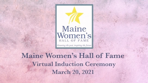 Thumbnail for entry 2020-2021 Maine Women's Hall of Fame