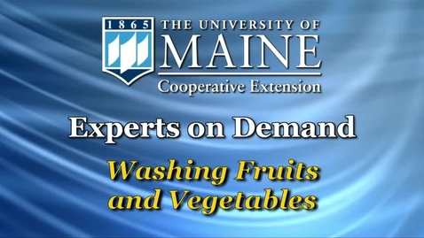 Thumbnail for entry How To: Washing Fruits and Vegetables
