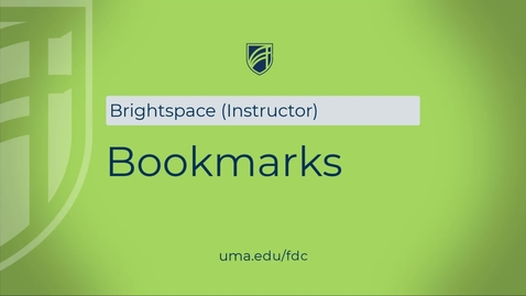 Thumbnail for entry Bookmarks