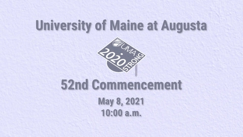 Thumbnail for entry 2020 Virtual Commencement