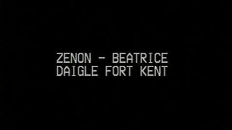 Thumbnail for entry Zenon & Beatrice Daigle