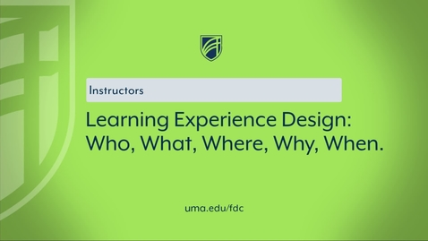 Thumbnail for entry Learning Experience Design