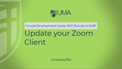 Thumbnail for entry Course Camp Zoom Update