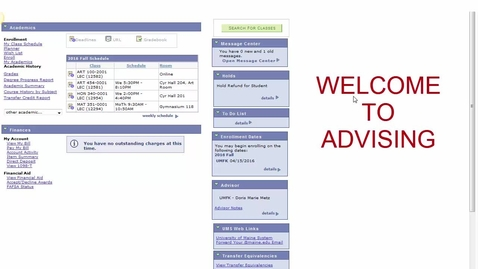 Thumbnail for entry Advising: General Overview