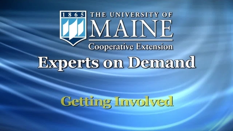 Thumbnail for entry How Can I Get Involved with UMaine Cooperative Extension Volunteer Programs