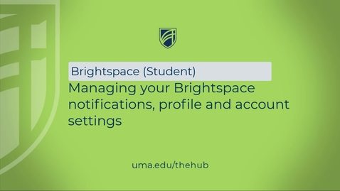 Thumbnail for entry Managing your Brightspace notifications, profile and account settings