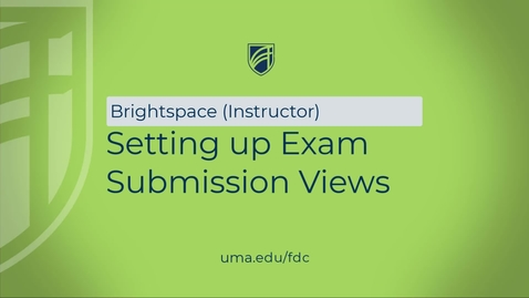 Thumbnail for entry Setting up Exam Submission Views