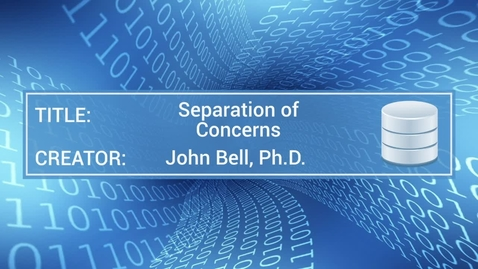 Thumbnail for entry Separation of Concerns