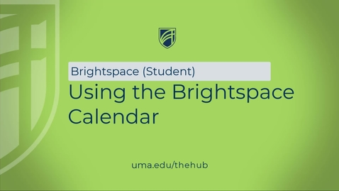 Thumbnail for entry Using the Brightspace Calendar