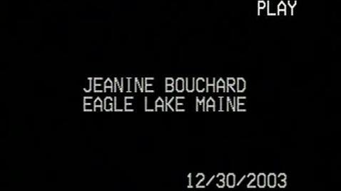 Thumbnail for entry Jeanine Bouchard