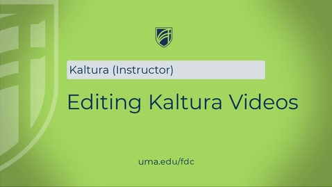 Thumbnail for entry Editting Kaltura Videos