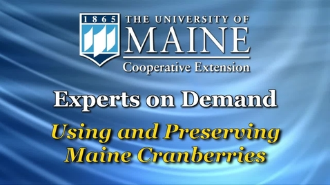 Thumbnail for entry How to Use and Preserve Maine Cranberries