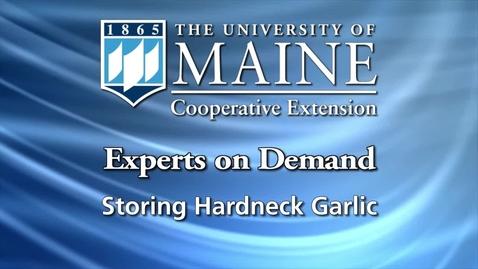 Thumbnail for entry Storing Garlic