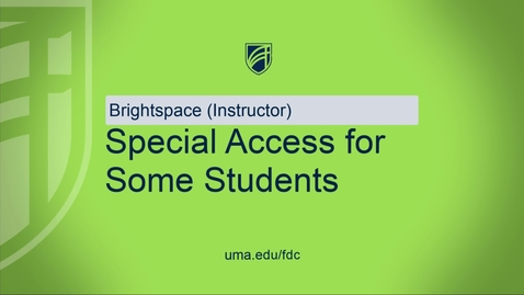 Thumbnail for entry Special Access