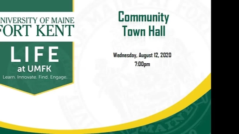 Thumbnail for entry August 2020 Community Town Hall from UMFK