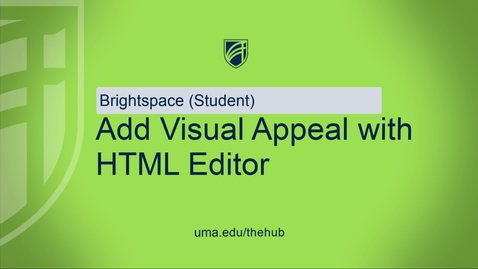 Thumbnail for entry HTML Editor For Students