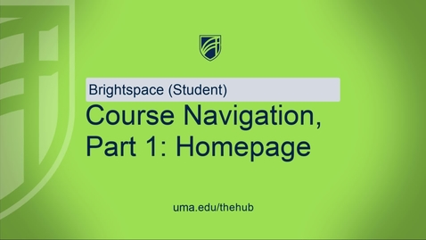 Thumbnail for entry Course Navigation - P1 - homepage