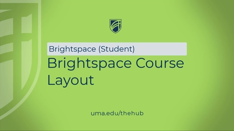 Thumbnail for entry Brightspace Course Layout