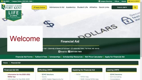 Thumbnail for entry Financial Aid General Overview - 2021