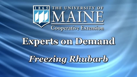 Thumbnail for entry Food Preservation Demonstration: Freezing Rhubarb