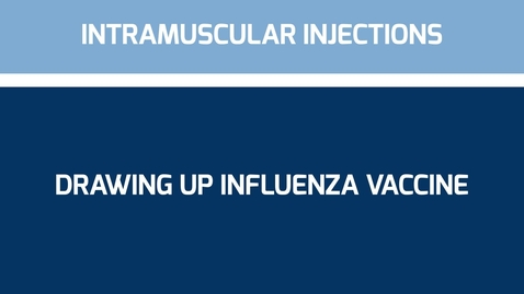 Thumbnail for entry Drawing up Influenza Vaccine